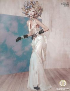 """Ji Hye Park featured in the W Korea editorial """"Final Fantasy"""" from August 2012 , showing Vivienne Westwood Gold Label"""