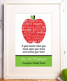 Look at this Apple Teacher Personalized Print on #zulily today!