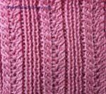 Ribs Knitting Stitch Patterns central & rib in knitting