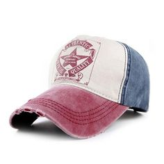 New Five-Pointed Star Letters Cotton Denim Baseball Cap. Outdoor Sport Hat  - Free b5a6576f88e9