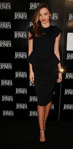 Miranda Kerr vestido negro