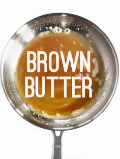 Brown Butter is the liquid gold that makes a recipe pop. Here is a simple step by step tutorial on how to make brown butter. Step by step photos. Butter Steak Sauce, Butter Sauce For Pasta, Brown Butter Sauce, Side Dish Recipes, New Recipes, Vegan Recipes, Cooking Recipes, Cooking Corn, Cooking Kale