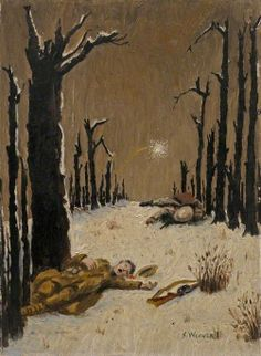 Bourlon Wood, Somme, by S. Weaver, painted in 1917.