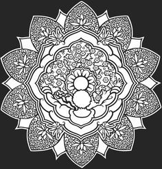 color it yourself! ☮ Mandalas Psychedelic ,  hippie, Indian, illustration, art, design ~