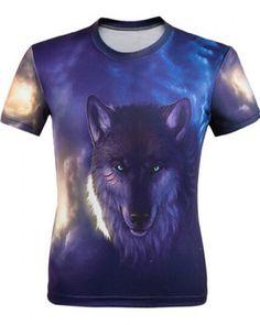 e20422462f4b Cheap 3D wolf t shirt for men short sleeve XXXXL 3d T Shirts, Men Shirts