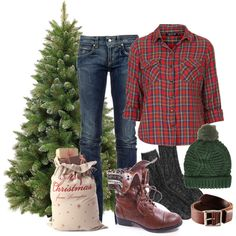 """Christmas Tree Farm"" by miranda7rose on Polyvore"