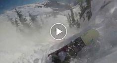 Praticante De Snowboard Filma o Assustador Momento Em Que é Arrastado Por Avalanche