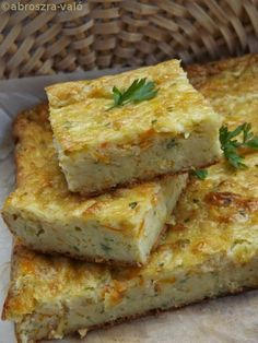Kipróbált és bevált receptek: Tökös lepény Keto Recipes, Vegetarian Recipes, Cooking Recipes, Healthy Recipes, Breakfast Lunch Dinner, Breakfast Recipes, Zucchini Squares, Quiche, Just Eat It