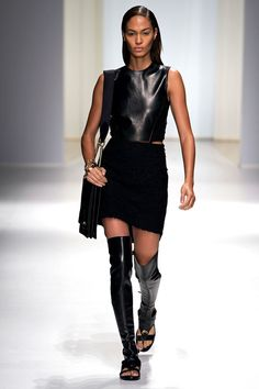 I love this outfit! The mix of textures and proportions, i just wish the boot-sandals were healed instead of flat. Salvatore Ferragamo