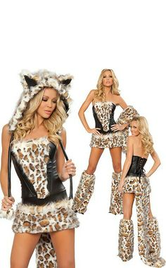 Fasching, Karneval, Fasnacht, Halloween, Kostüm, Leopardin, Leoparden Girl, Plüschiges Leoparden Girl,