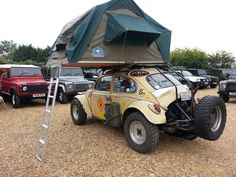 Roof Top Tent and VW Bug