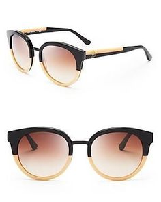 Retro-chic with large round sunglasses from Tory Burch