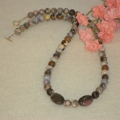 Ocean Jasper Gemstone Beaded Necklace