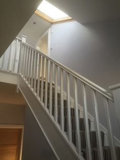 Here's a stairway that we installed leading up to an attic space that we converted.
