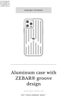 The ZEBAR® aluminum iPhone case combines optimal protection with our iconic ZEBAR® groove design. This light and slim case matches our signature suitcases and is made of aluminum and shockproof TPU. These two materials give the case a good grip and optimally protect your smartphone against bumps and scratches when traveling. The aluminum iPhone case does not support wireless charging. Designed and developed in Germany. Suitcases, Good Grips, Studios, Smartphone, Traveling, Germany, Iphone Cases, Slim, Group