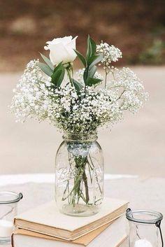 Blumendekoration mit Schleierkraut is part of Flower centerpieces wedding - Dream Wedding, Wedding Day, Trendy Wedding, Wedding Rustic, Budget Wedding, Rustic Weddings, Spring Wedding, Weddings On A Budget, Wedding Advice