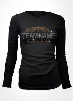 Basketball long sleeve t-shirt you can put your team's name on it