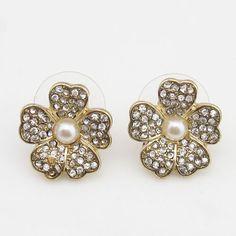 Kenneth Jay Lane RHINESTONE STUD EARRING [KJL015] - $135.00 - lucky brand , j.crew , lia sophia jewelry on sale !