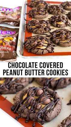 Chocolate Covered Peanut Butter Cookies. An amazing cookie recipe for chocolate and peanut butter fans!