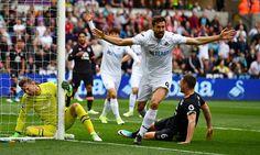 Swansea's Fernando Llorente is the master of slow motion