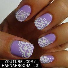 Lacey+Lilac+Nail+Art