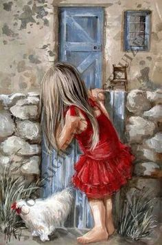 Dear Maureen, Ive chosen this beautiful painting by Maria Magdalena Oosthuizen for you and I hope youll like it as much as I. Beautiful Paintings, Paintings I Love, Art Paintings, Image Foto, Illustration Art, Illustrations, Painting People, Painting Inspiration, Art Pictures