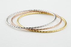Sterling Silver Bangle Bracelet, Custom Handmade,Stacking Bangles,Solid High Gold Plated,Handmade Jewellery Made to Order Bracelet Making, Jewelry Making, Silver Bangle Bracelets, Rose Gold Plates, 18k Gold, Handmade Jewelry, Jewels, Sterling Silver, Etsy