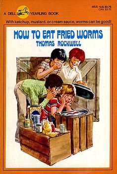 Two boys set out to prove that worms can make a delicious meal in How to Eat Fried Worms Great Books, Best Books To Read, I Love Books, My Books, Teen Books, Chapter Books, Old Toys, 80s Kids, Worms