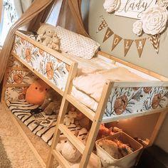 Decals for MALM Dresser skin ikea Dark tropical leaves Ikea Vintage, Rose Vintage, Vintage Rosen, Kura Cama Ikea, Girls Bedroom, Childs Bedroom, Kid Bedrooms, Boy Rooms, Kids Rooms