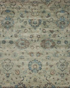 Harmony - Peaceful - Samad - Hand Made Carpets Peaceful Home, Transitional Rugs, Home Rugs, Hand Spinning, Earth Tones, Floral Motif, Contemporary Style, Green Rugs, Traditional