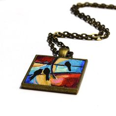 Dark Honey Pearled Abstract Pendant with Sparkles Original Art Piece. Beautiful and unique one of a kind