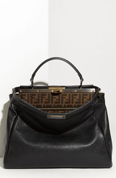 d0662e433624 Fendi  Peekaboo - Large  Leather Satchel