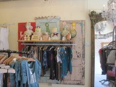 Use old doors behind displays. Store Displays, Boutique Displays, Landscape Lighting Design, Food Art For Kids, Consignment Shops, Old Doors, Retail Shop, Cool Landscapes, Antique Shops