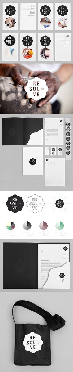 Resolve – Visual Identity Design by Neue | #stationary #corporate