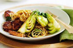 Teriyaki chicken and noodle stir-fry main image