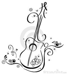 Search, Guitar wall and Wall art decal - ClipArt Best Music Drawings, Pencil Art Drawings, Drawing Sketches, Guitar Wall Art, Music Tattoos, Doodle Art, Line Art, Wall Stickers, Stencils