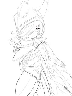 LoL - Xayah WIP by AB-Anarchy