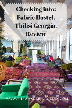 Visiting Tbilisi? Have a look at my review for Fabric Hostel. It's even beautifully decorated but still holds so much history!