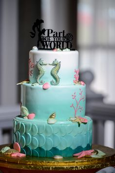 "Become ""part of our world"" with today's Ariel inspired The Little Mermaid wedding cake"