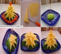 Una presentación de un plato de queso muy original.