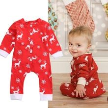 Newborn Baby boys Girls Reindeer Christmas Rompers onesie Infant Babies Kids Cute Xmas Romper one-pieces Outfits Kids Clothing(China (Mainland))
