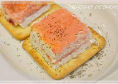 Milhojas de salmón ahumado (con y sin thermomix)