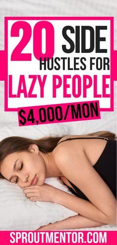 20 easy jobs for lazy people who want to work from home and still make money online during their spare time.  #easyjobs #easyjobsthatpaywell #easyjobsfromhome #easyjobsforteenagers #easyjobsforlazypeople #lazy #lazypeoplejobs #workfromhome #workathome #makemoneyonline