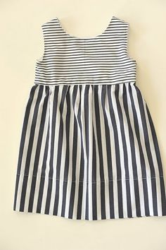 Summer stripe frock tutorial {and pattern}