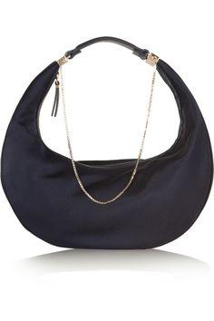 e2082a0c93 The Row - Purse chain-trimmed silk shoulder bag