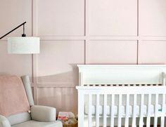 Nursery Accent Walls, Wood Wall Nursery, Pink Accent Walls, Pink Walls, Nursery Room, Girl Nursery, Nursery Inspiration, Nursery Ideas, Rose Nursery