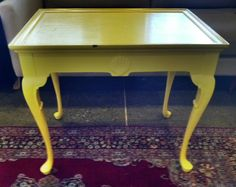 """18"""" x 28"""" Yellow Painted Table $79 by iheartleftovers, via Flickr"""