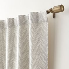 Dover Cream/Taupe Curtain Panels | Crate and Barrel