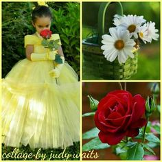 Flower Girl Collage by Judy Waits