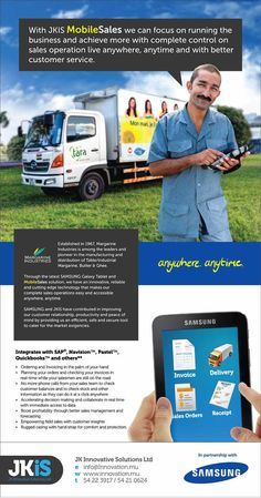 JK Innovative Solutions Ltd - Mobile Sales Solutions From JKiS. Info: 5422 3917 / 5421 0624